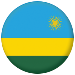 Rwanda Country Flag 58mm Button Badge